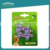 Toprank China Manufacture New Printed Ribbon Pet Hair Bows Dog Hair Bow Lot Cute Hair Bow Ideas