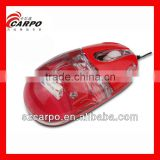 Red Liquid Optical Mouse for Apple Mac Book, Windows PC, Laptop - Micro USB, 3 Button C175