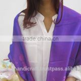 Flower patterns in purple silk scarf for body accessories made in Vietnam, beautiful products