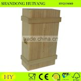 custom balsa wood 2 bottles wine box wholesale