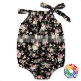Wholesale girl clothing smock bubble baby girl romper florals inftant toddler clothes baby cotton romper