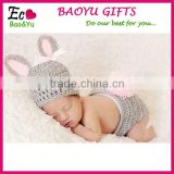 Newborn Baby Photo Prop Knitted Bunny Costume Cute Rrochet Rabbit Clothing Set Baby Clothes Factory
