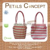 Natural cotton tote bag with cord handle