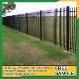 Black corlor green or white steel picket ornamental fence for home