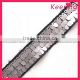 Keering wholesale sequines lace sequins tape sequins trimming WTP-880