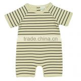 Organic cotton new design Striped Baby Rombers with Super soft cute baby rompers and Comfortable Romper for Babies
