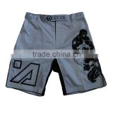 high quality 100% polyester mma shorts custom logo muay thai shorts latest design boxing shorts