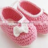 2014 top sales soft sole prewalkers cotton yarn baby shoes