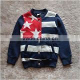 Children's custom sublimation print wholesale high quality factory price 100% cotton fashion coats hoodies