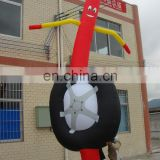 standing tire inflatable sky dancer, air dancer for promotion or advertising
