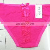New products daily simple cotton underwear for women with lace