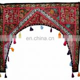 Indian Home Decorative Patchwork Embroidered Window Valence Door Hanging Toran Topper Toran door hanging wholesale