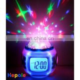 shining Sky lamp music alarm clock calendar UI1038