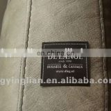 high quality black adhesive sofa furniture woven damask label
