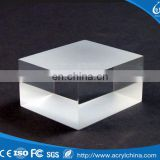 Clear Acrylic Solid Sign Block Customized Acrylic Cube Display Block Acrylic DIsplay Stand