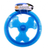 Pet luminous frisbee dog training saucer TPR to bite the frisbee