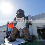 New design inflatable sport mascot for outdoor exhibition/advertising with logo printing