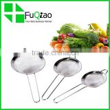 High Quality Cooking Tools food grade Fine Mesh Stainless Steel Mesh Strainers Set of 3                                                                         Quality Choice