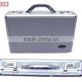 fashion best quality aluminum briefcase,carrying hard suitcase with handle and adjustable shoulder belt