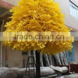 artificial trees large leaf fiberglass fabric material artificial outdoor large trees ginkgo tree