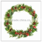 Artificial Film Flower Wreath With Green Leaf for Holiday/Wedding/Children's hair decoration