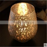 copper glass candle holder sliver votive candle holder glass cup for wedding
