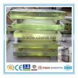 Bright surface X-ray radiation protective lead glass