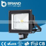 Zhongshan factory Manufacturer outdoor COB Led Light flood ip65 LED Flood Light waterproof led flood light 50w with PIR Sensor
