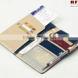 Genuine Leather Rfid Blocking Passport Cover With Pen