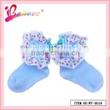 Chinese wholesale soft cotton exquisite baby socks for girls with heart ribbon (WT-0019)