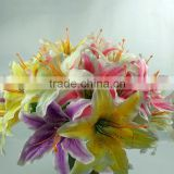 Supply simulation flowers artificial flowers Flowers for the wedding arch for 18 centimeters lilies single branch