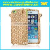 attractive Weave Back Case Cover For Smartphone With Wrist Strap, weaving cases for phone cases