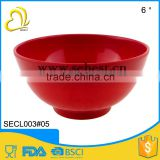 "direct price wholesale plastic 6"" color melamine red round shape cereal bowl                                                                         Quality Choice"