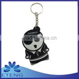 Factory direct sale popular make rubber keychains for promotion