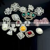 Best Price Zinc Alloy vintage flower rhinestone crystal strass brooch pins , Crystal rhinestone strass brooch in colors