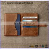 Italian Genuine leather passport holder travel wallet cover credit card holder                                                                         Quality Choice