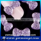 3D Bowknot Nail Art Stickers Alloy Bow Tie Rhinestones Glitters Beauty DIY Pink Decorations Jewelry L0060