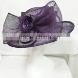 Ladies formal hat/church hat/sinamay hat/race hat factory wholesale-Purple                                                                         Quality Choice