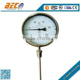 radial connection bimetal thermometer dial temperature gauge