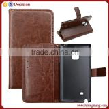 Pu leather cover case for samsung note edge N9150, for samsung note edge wallet case