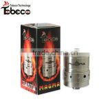 Tobeco best quality dripping magma atomizer with adjustable air control rings stainless magma clone