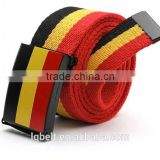 The national flag fabric Belts Canvas belt alloy woven Weaving nylon Men's Women's belt wholesale 100%Factory fashion