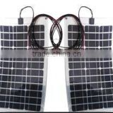 60w high efficiency mono semi-flexible solar panel 60watt flexible solar panel for boat RV