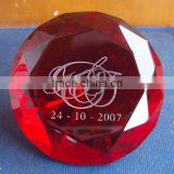 diamond blank glass paperweight- 1