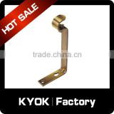 KYOK adjustable custom 22mm precision iron metal curtain rod bracket,aluminum vertical blinds component thickness 0.5/0.6/0.7mm