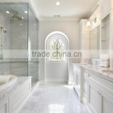 white marble with furniture bath vanity