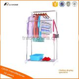 hottest sale single /double pole/rods stainless steel clothes drying rack with shoes rack OEM factory