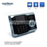 3.5 inch TFT screen 12V biometric fingerprint time attendance system employee fingerprint attendance machine price