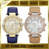 two taste shiny crystal bezel watch japan mov't watches IP plated for lady