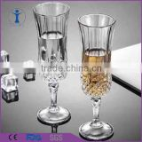 Wedding bar machine made crystal champagne flute                                                                         Quality Choice